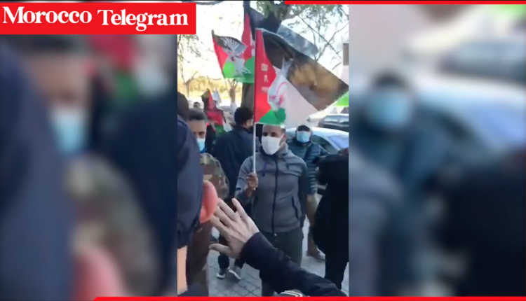 Polisario attack Moroccan consulate in Spain and lower the Moroccan Flag