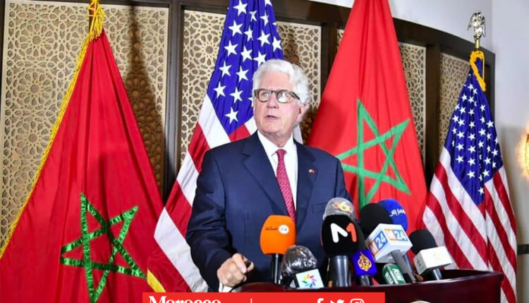 US Ambassador's Signature on the Map of Morocco, a sign of support and recognition