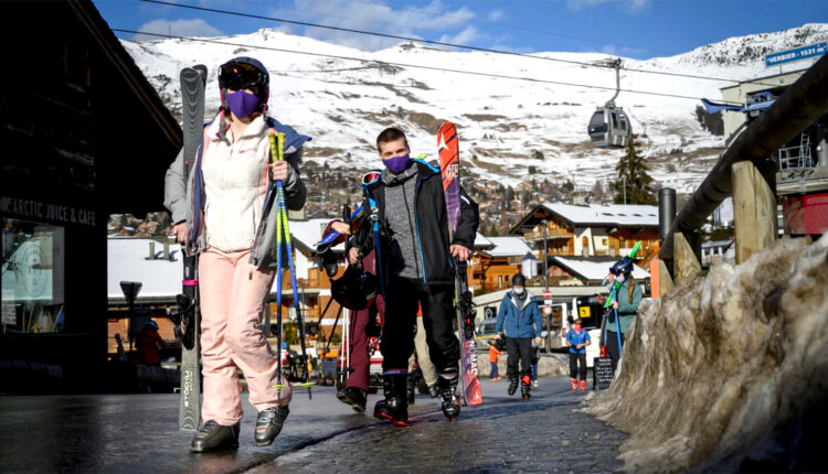 Forced into a ten-day quarantine in the Swiss Ski Resort of Verbier, hundreds of British tourists escaped under cover of night.