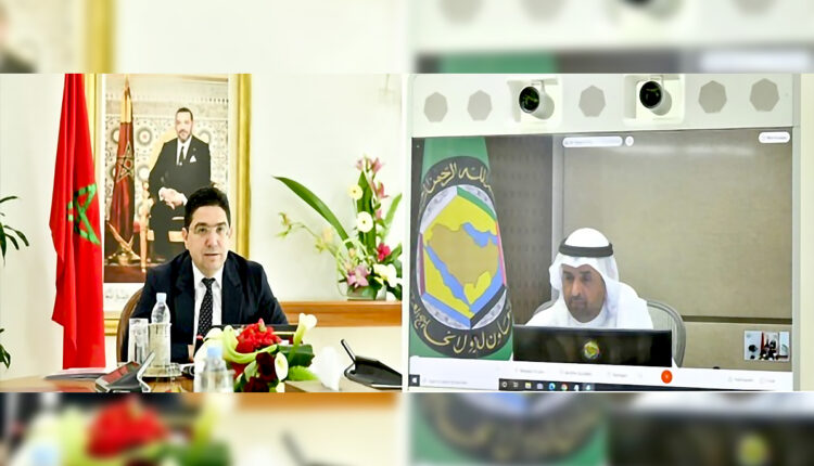 Today, February 23rd, the Minister of Foreign Affairs, African Cooperation and Moroccan Expatriates, Nasser Bourita, held a visio meeting with Secretary-General of the Cooperation Council for the Arab States of the Gulf, Nayef Falah Mubarak Al-Hajraf.