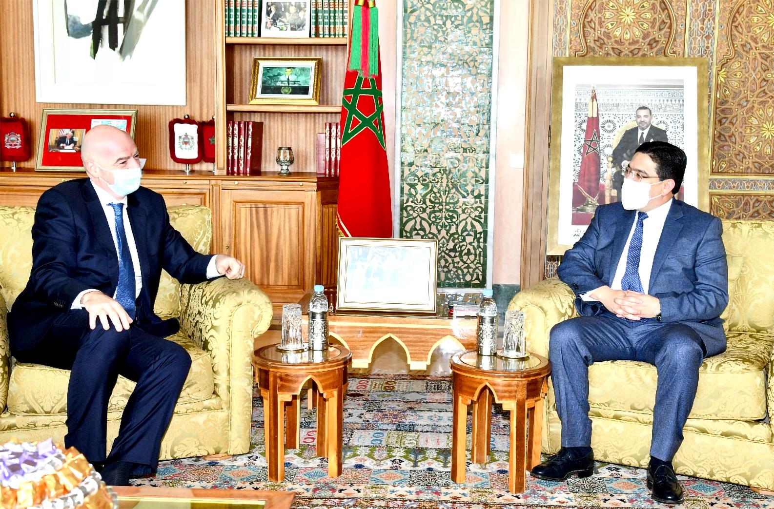 FIFA President Thanks HM King Mohammed VI for Supporting Football  Development   Morocco Telegraph