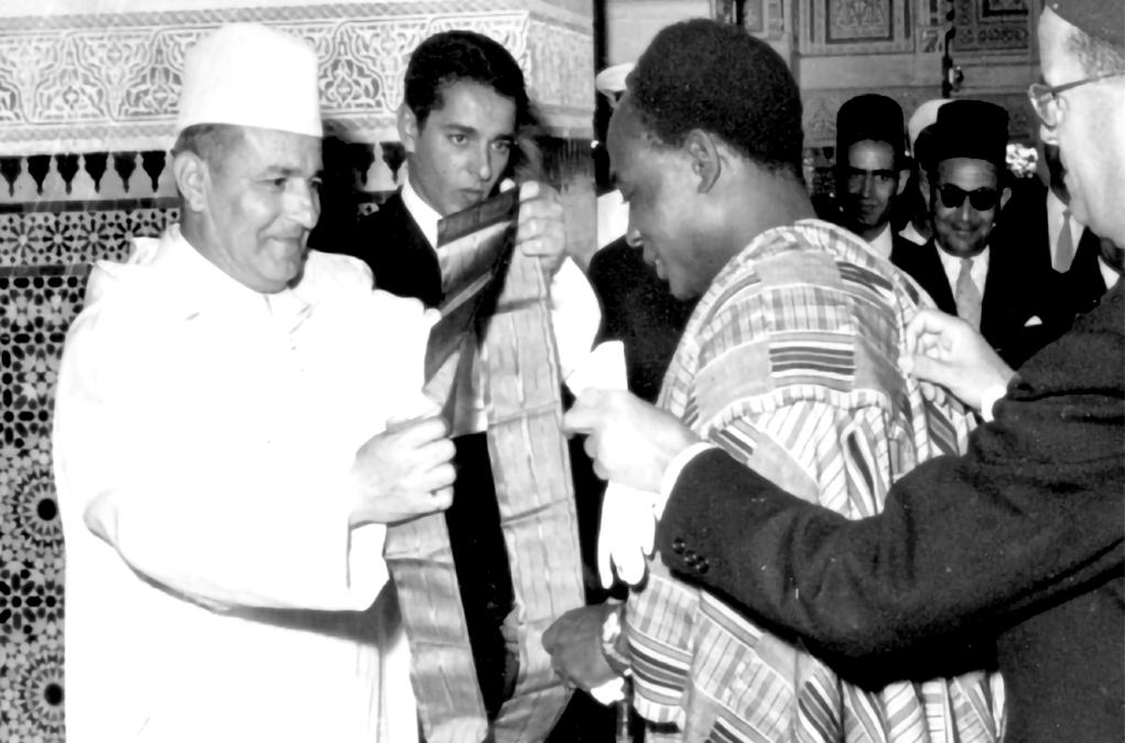 Late King of Morocco Mohammed V Decorates Ghanaian President Kwame Nkrumah
