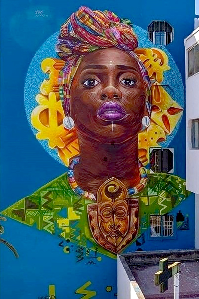 Mural by Mohammed Awudu (@mohawudu) for Casamouja Festival 2019 in Casablanca, Morocco