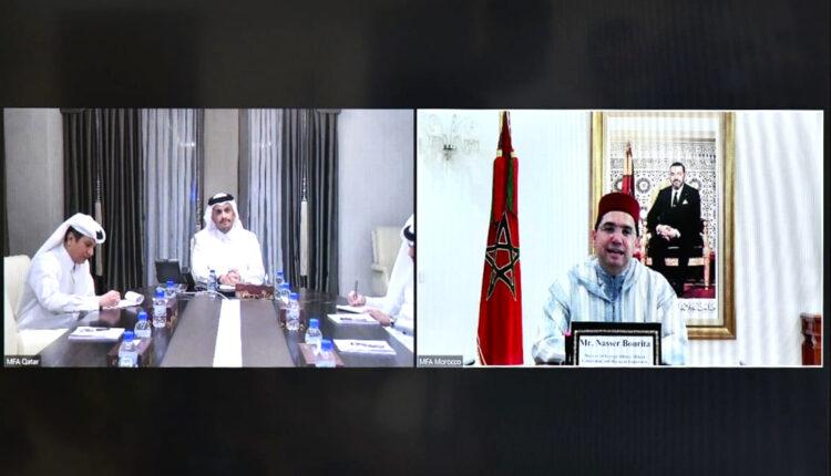 FM Nasser Bourita Holds Talks with His Qatari Counterpart