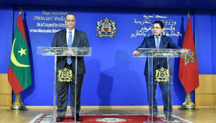 Foreign Minister Nasser Bourita, along with his Mauritanian counterpart, Ismail Ould Cheikh Ahmed.