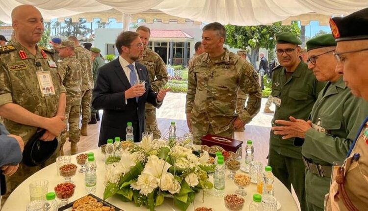 The commander of US Africa Command, General Stephen Townsend, during his visit to Morocco