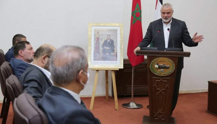 Ismael Haniyeh during his visit to Morocco