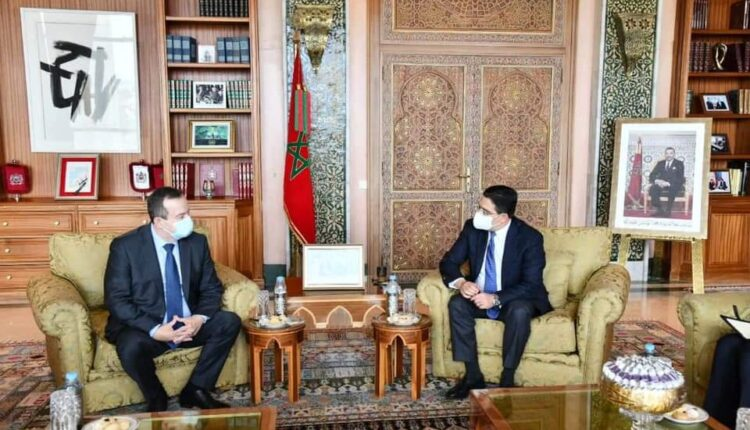 Foreign Minister Nasser Bourita, along with Ivica Dacic, Speaker of the National Assembly of the Republic of Serbia.